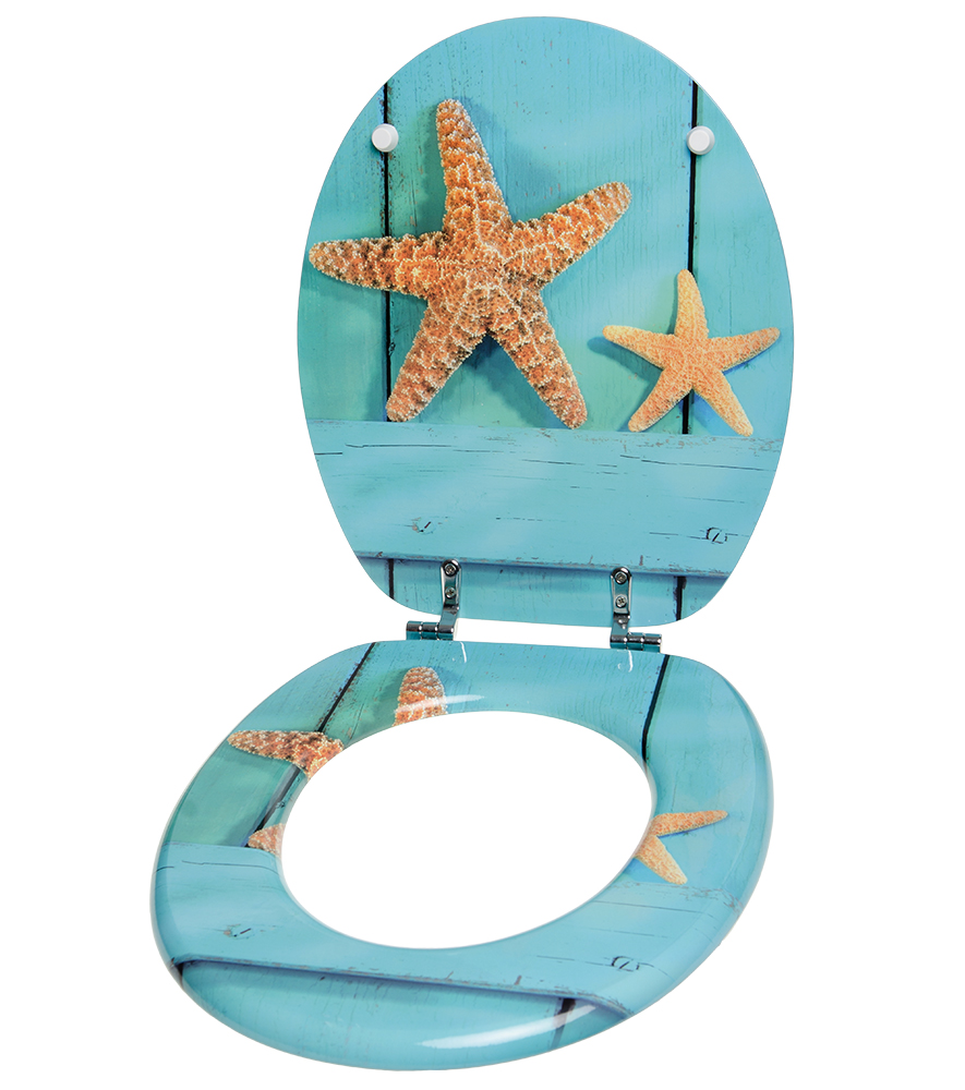 toilet seat starfish. Black Bedroom Furniture Sets. Home Design Ideas