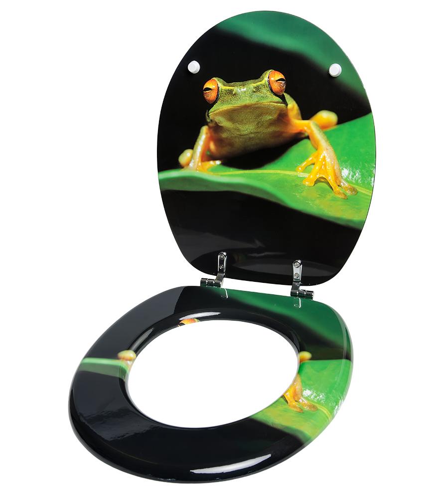 Toilet Seat Green Frog