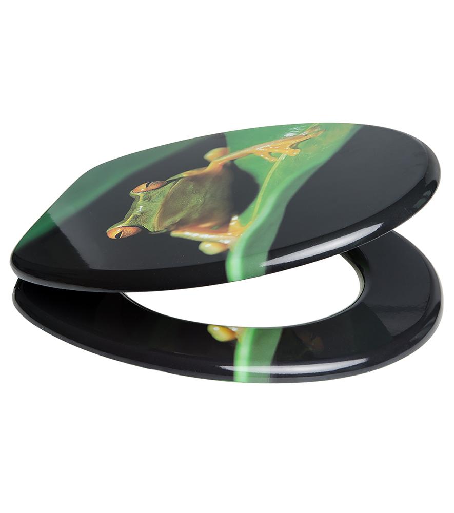 soft close toilet seat green frog. Black Bedroom Furniture Sets. Home Design Ideas