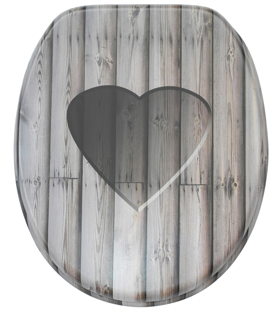 grey soft close toilet seat. Soft Close Toilet Seat Wooden Heart