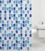 Shower Curtain Mosaic Blue 180 x 200 cm