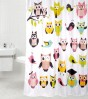 Shower Curtain Owl 180 x 200 cm