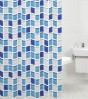 Shower Curtain Mosaic Blue 180 x 200 cm
