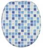 Toilet Seat Mosaic Blue