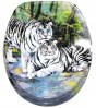 Toilet Seat White Tiger
