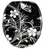 Soft Close Toilet Seat White Flower