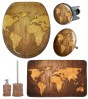 Bathroom Set World Map
