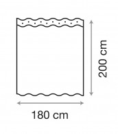 Shower Curtain Asia 180 x 200 cm