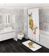 Shower Curtain Froggy 180 x 200 cm