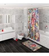 3 Piece Bathroom Set Graffiti