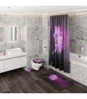 Shower Curtain Purple Dust 180 x 200 cm