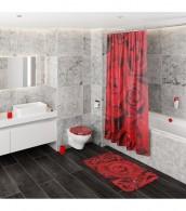 Shower Curtain Roses 180 x 200 cm