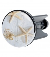 Wash Basin Plug Sea Star Grey