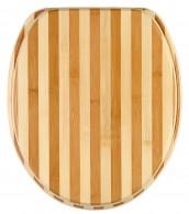 Toilet Seat Bamboo Striped