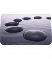 Bath Rug Black Stones 50 x 80 cm