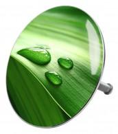 Bathtube Plug Green Leaf
