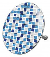 Bathtube Plug Mosaic Blue