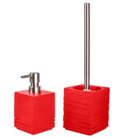 Bathroom Set Calero Red