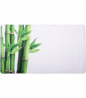 Bath Mat Bamboo Green 40 x 70 cm