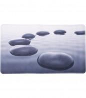 Bath Mat Black Stones 40 x 70 cm