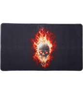 Bath Mat Skull in Flames 40 x 70 cm