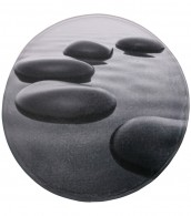 Bath Rug round Black Stones Ø 80 cm