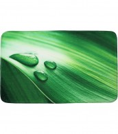 Bath Rug Green Leaf 70 x 110 cm