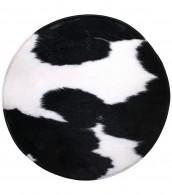 Bath Rug round Cow Spots Ø 80 cm