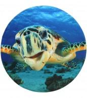 Bath Rug round Turtle Ø 80 cm