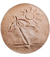 Bath Rug round Sunshine Ø 80 cm