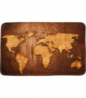 Bath Rug World Map 50 x 80 cm