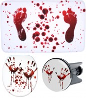 3 Piece Bathroom Set Blood