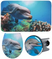 3 Piece Bathroom Set Dolphin Flat