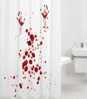 Shower Curtain Blood Hands 180 x 200 cm