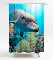 Shower Curtain Dolphins 180 x 200 cm