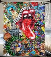 Shower Curtain Graffiti 180 x 200 cm