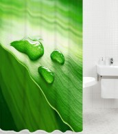 Shower Curtain Green Leaf 180 x 180 cm