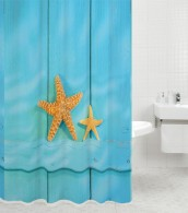 Shower Curtain Starfish 180 x 180 cm