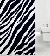 Shower Curtain Zebra 180 x 180 cm