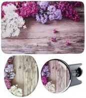3 Piece Bathroom Set Lilac