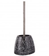 Toilet Brush and Holder Glittering Black