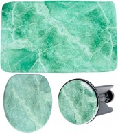 3 Piece Bathroom Set Marble Green