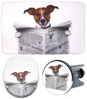 3 Piece Bathroom Set Newspaper