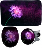 3 Piece Bathroom Set Purple Dust