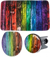 3 Piece Bathroom Set Rainbow