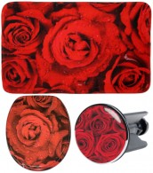 3 Piece Bathroom Set Rose
