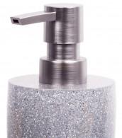 Soap Dispenser Glittering Silver