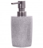 Soap Dispenser Glittering Silver