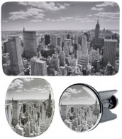 3 Piece Bathroom Set Skyline New York
