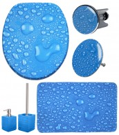 Bathroom Set Water Pearls Blue